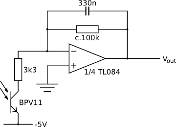 Amplifier circuit for one sensor