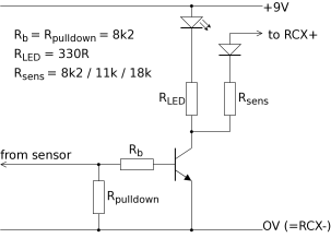 Circuit diagram for sensor input